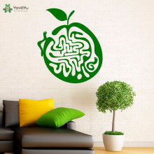 YOYOYU Wall Decal Creative Apple Labyrinth Vinyl Stickers For Kids Rooms Bedroom Art Home Decor Removable Interior DIY CY41