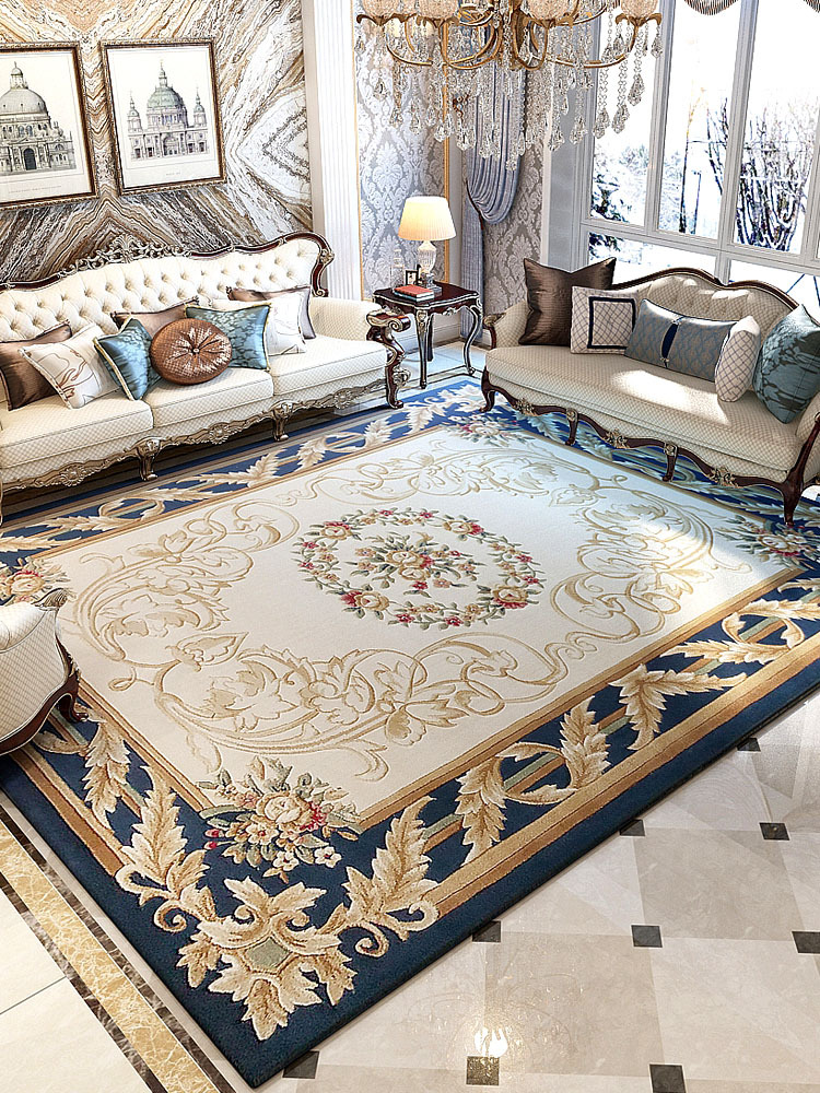 Hand Carved Carpets For Living Room Thick Polypropylene Bedroom Rug American Style Villa Sofa Coffee Table