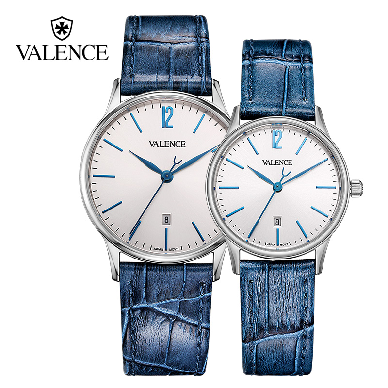 Valence Watches For Lover's Valentine's Gift for GirlFriend 50M Waterproof Fashion Casual Couple Whatches Quartz Relojes VC-060 alike 2015 50m relojes 14109
