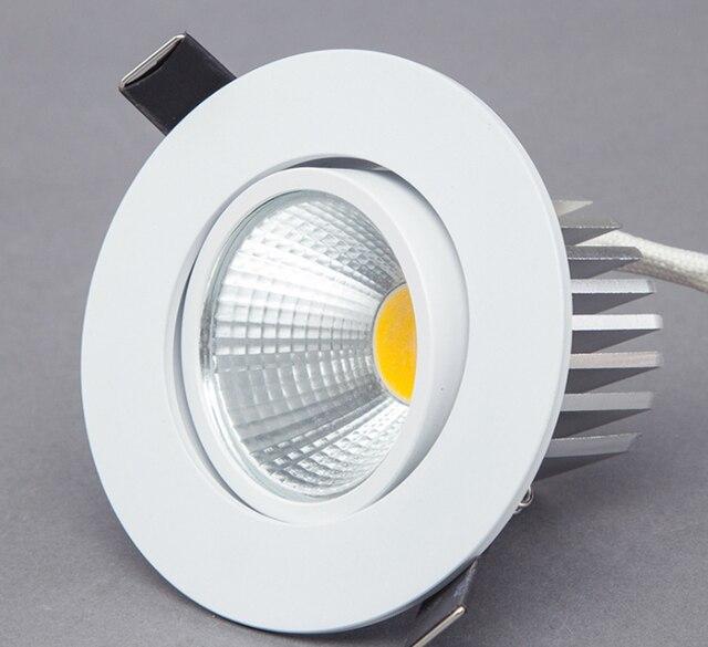 Dimmable LED Downlight 5W 7W 9W Spot LED DownLights Dimmable cob LED Spot Recessed down lights for living room 110v 220v
