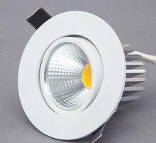 Dimmbare LED Downlight 5W 7W 9W Spot LED DownLights Dimmbare cob LED Spot Einbau unten lichter für wohnzimmer 110v 220v