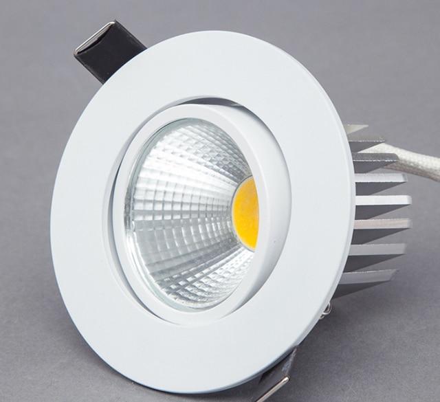 عكس الضوء LED النازل 5 واط 7 واط 9 واط بقعة LED النازل إضاءة جدارية ليد قابلة للخفت بقعة راحة أسفل أضواء لغرفة المعيشة 110 فولت 220 فولت