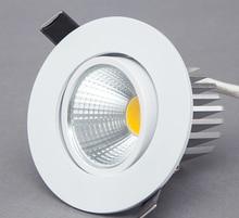 Mờ ĐÈN LED Âm Trần Downlight 5W 7W 9W Điểm Đèn LED Downlight Âm Trần COB LED Đèn xuống đèn phòng khách 110 V 220 V