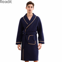 Readit халат мужской кимоно плюс Размеры теплый халат Sexy Хлопок Для мужчин Ванны халат Для мужчин S Ванны халаты пижамы Ванны халат PA1601