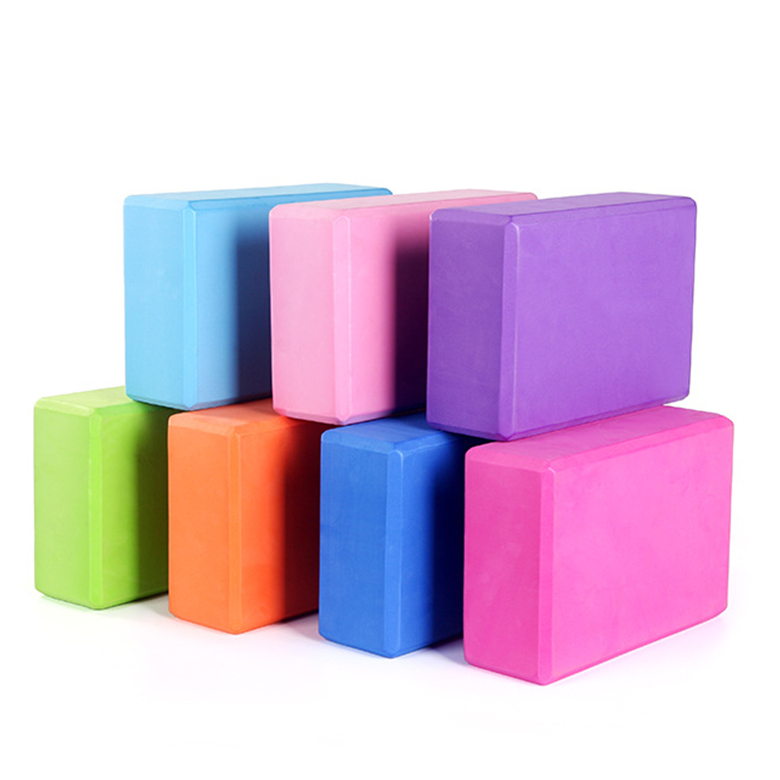 EVA Yoga Block Brick 7 Colors Home Yoga Props Foam Brick Gym Workout Sports Stretching Aid Body Shaping Fitness Sport