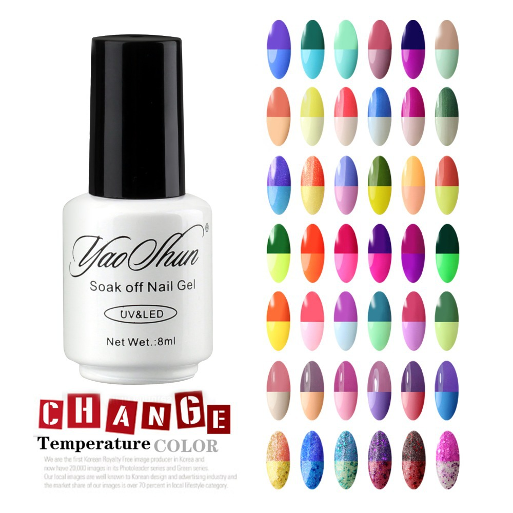 Yao Shun Chameleon Temperature Change Nail Color UV Gel Polish 8ml ...
