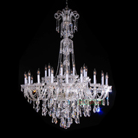 Flush Mount Chandelier Ceiling LED Chandelier for Staircase Modern Crystal Chandeliers Luxury Blown Glass Chandelier Living Room