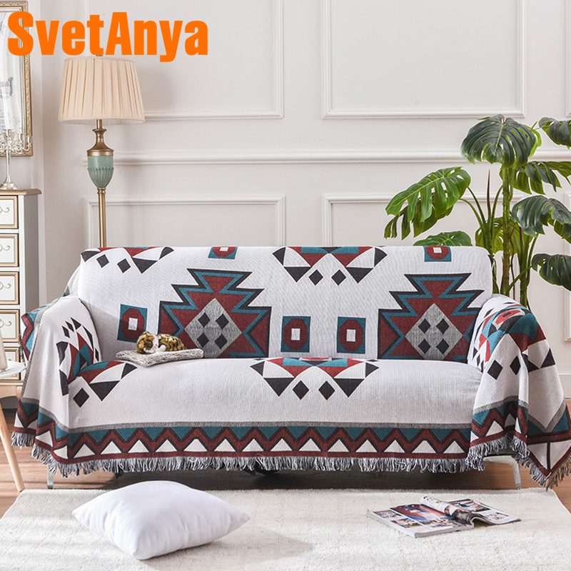 US $14.69 50% OFF|Svetanya Boho Sofa Towel Cotton Linen Fabric Jacquard  Single Double Three seat Sofa Cover-in Sofa Cover from Home & Garden on ...