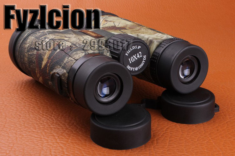 Fyzlcion Military 10X42 Hunting Scope Telescope Camouflage Binoculars High Power Hunting Army HD Wide Angle binoculars original binoculars 10x42 high power hd optical lenses mc green film military telescope for hunting outdoor spotting scope