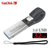 SanDisk SDIX30N 3.0 usb Flash USB Drive 128GB 32GB 64GB OTG USB3.0 Pen Drive USB Stick pendrive para iPhone iPad iPod APPLE MFi