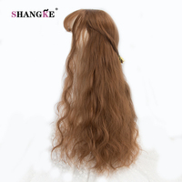 SHANGKE 26 Long Kinky Hair Wig Heat Resistant Synthetic Wigs For Black Women Natural Fake Hair