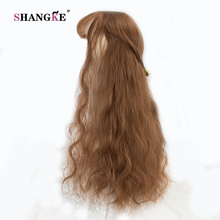 """SHANGKE 26"""" Long Kinky Hair Wig Heat Resistant Synthetic Wigs For Black Women Natural Fake Hair With Middle Hair Part"""