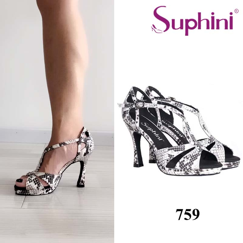 Suphini Women Latin Dance Shoes Snake Print dance shoes Ballroom Dance Shoes High Heel Dance Shoes женская футболка hic 1 t t hic 5554
