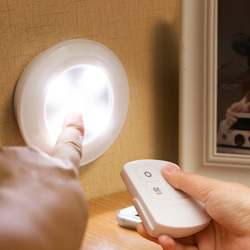ФОТО Modern LED wireless wall lamp Bedroom Kitchen Wardrobe  Wine cabinet lamps charging night light spotlight indoor lighting