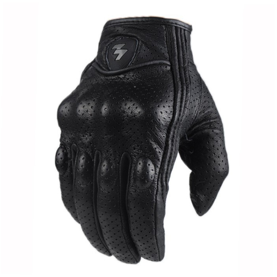 2018 Retro Perforated Leather Motorcycle Gloves Cycling Moto Motorbike Protective Gears Motocross Glove winter man Gift