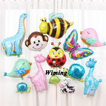 horse giraffe elephant balloons inflatable animals toys baby children birthday decoration party jungle forest animal