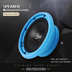 Cover Spacer Car-Speaker Soft-Silicone 2pcs Protective-Horn Shockproof-Cover Folding