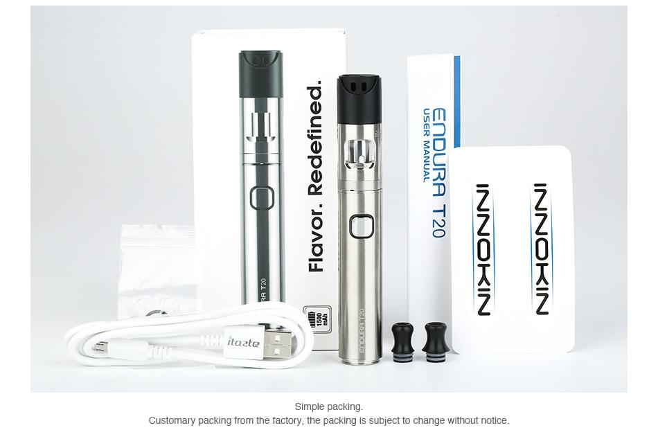 , Original Innokin Endura T20 Starter Kit with 2ml Prism T20 Tank Built-in 1500mAh Battery E-cig Vape Pen Kit Vs pen 22 / stick v8