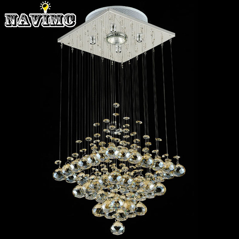Modern Led Small Crystal Chandeliers Lighting For Bedroom