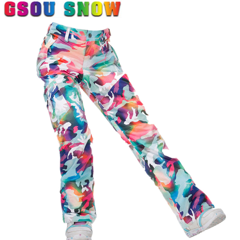 8c2306244b Gsou Snow d Waterproof Ski Pants Women Snowboard Pants Ski Trousers High  Quality Windproof Outdoor Winter Skiing Snow Pants
