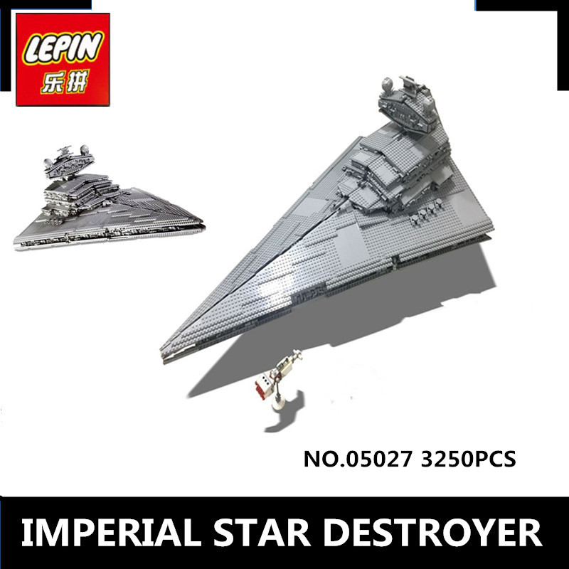 New LEPIN 05027 3250 Pcs  Emperor Fighters  Ship Model Building Kit Block Bricks Toy Compatible with 10030 Boy Gift lepin 22001 pirate ship imperial warships model building block briks toys gift 1717pcs compatible legoed 10210