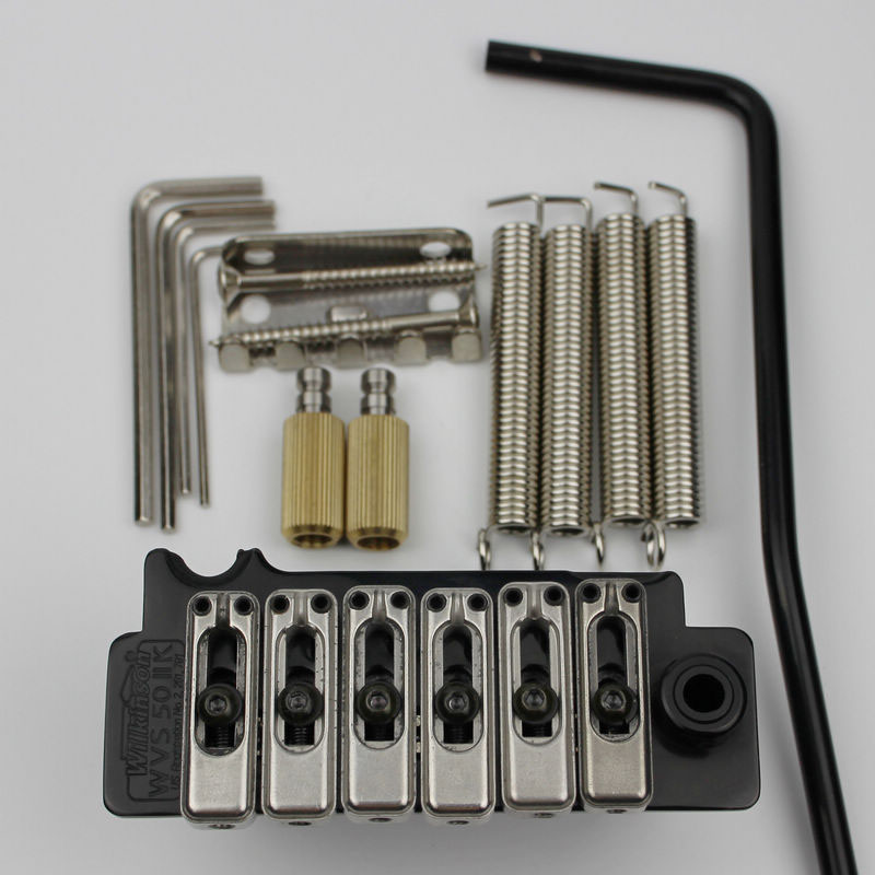 New Wilkinson WVS50IIK Black Tremolo Bridge Stainless Steel Saddles and Arm