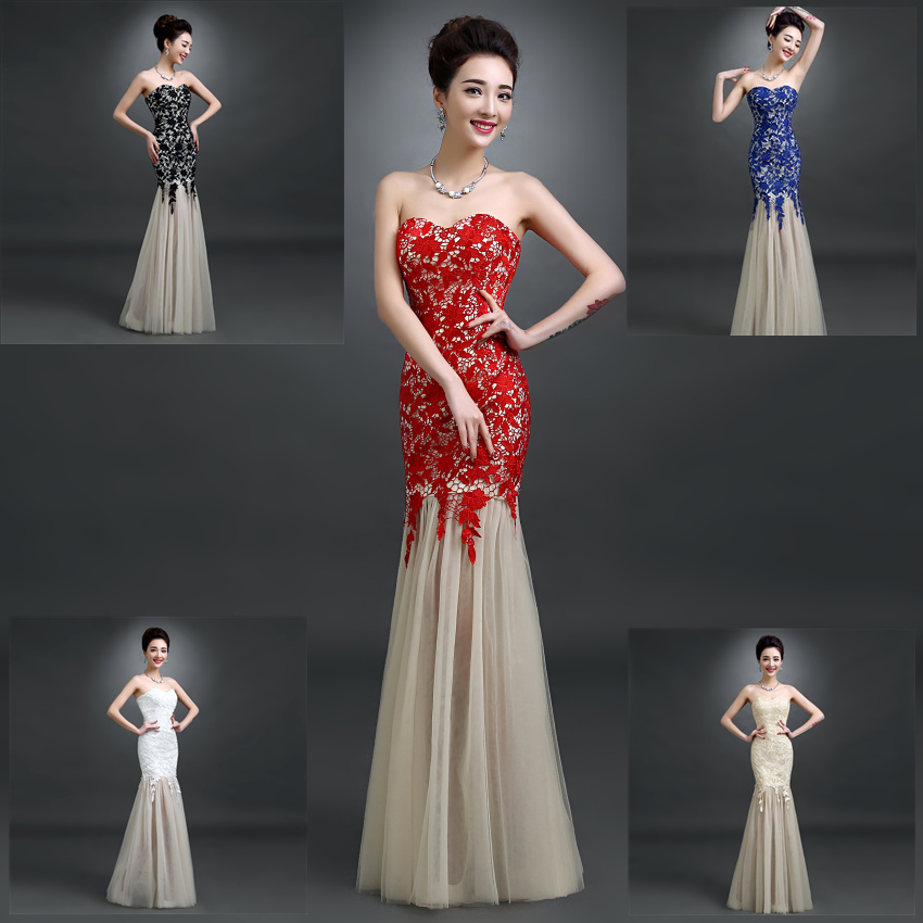9d9d3c709b Mermaid tube top red formal dress bridal marriage dress fish tail sexy  dinner dress long design formal dress costume ball gown
