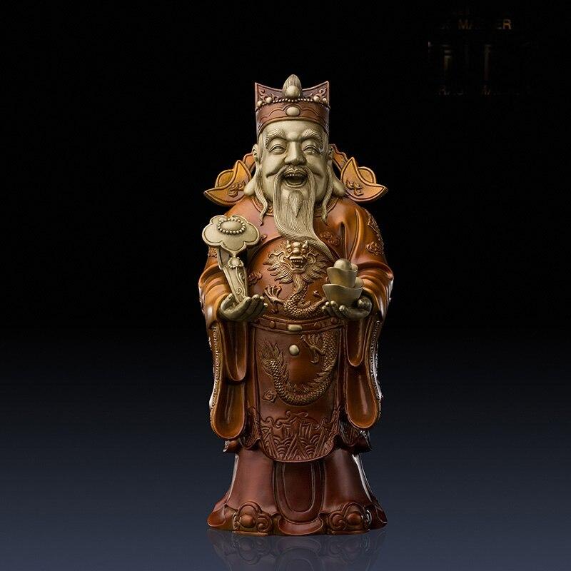 Good home 거실 오피스 샵 탑 장식 미술 부자의 고급 신 부처님 풍수 황동 동상 조각-에서동상 & 조각품부터 홈 & 가든 의  그룹 1
