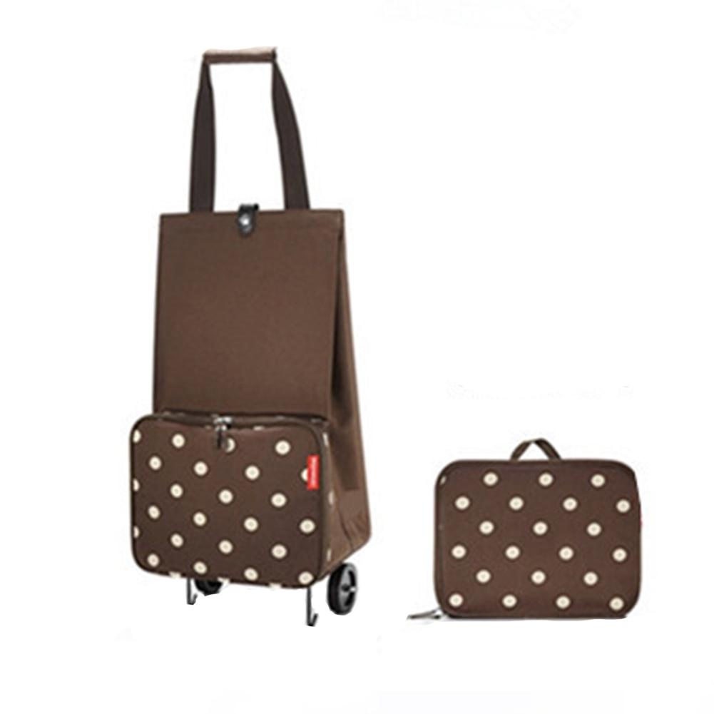 Shopping Bag On Wheels Pull Cart Foldable Travel Bag Multifunction Durable Large Capacity Portable Student Tug Bag Package Labor