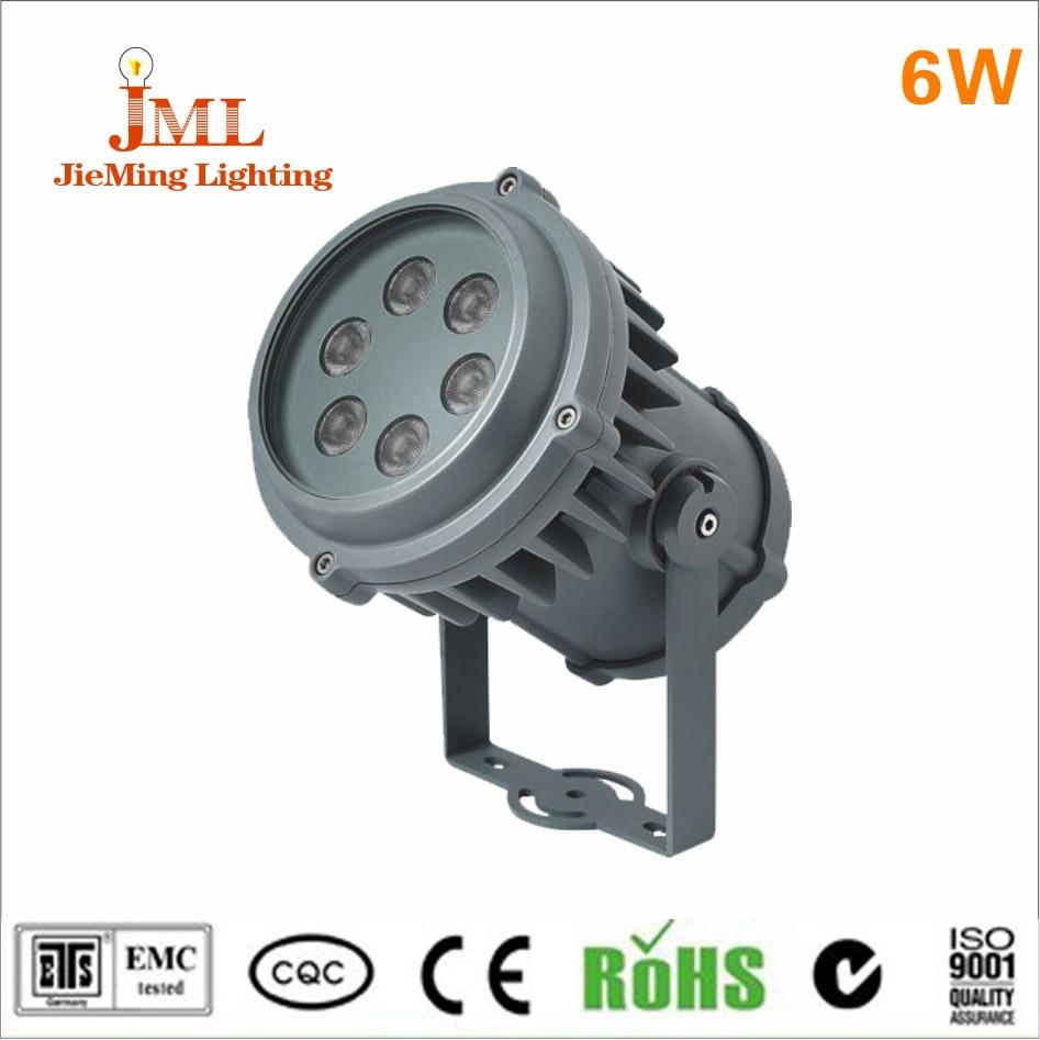 6W AC220V led outdoor spotlights IP65 Waterproof Bridgelux chip outside garden lamps modern style floodlight led light flector