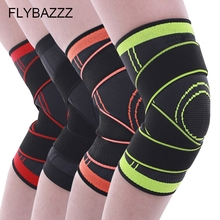 FLYBAZZZ Knitted Knee Support Professional Protective Sports Pad Breathable Bandage Brace  Elastic Cycling