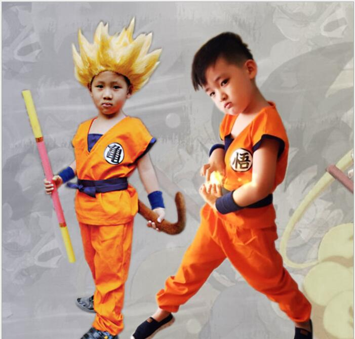 Dragon Ball Cosplay Costume Son Goku Cos Halloween Stage Children New Fashion Fit Figure Costume Drop Ship