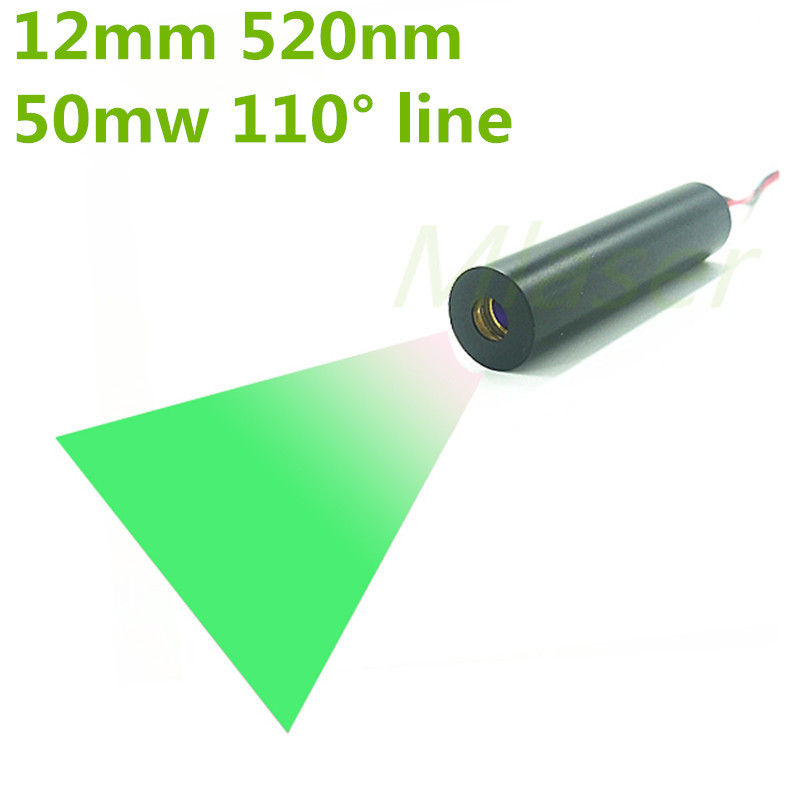 High End 12*40mm 50mW 520nm Green Line 110 degree Laser Module APC Driver with PD Industrial areas туника aurora firenze