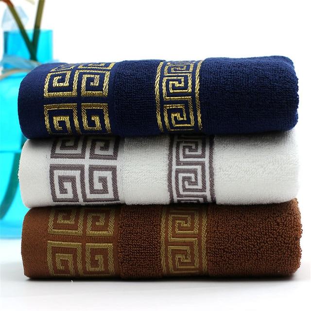 100% Cotone Ricamato Set di Asciugamani di Spiaggia di Bambù Asciugamani Da Bagn