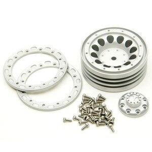 Image 4 - 1/4 pièces 1.9 pouces RC Beadlock jantes en aluminium roue moyeu ensemble pour 1/10 TRX 4 SCX10 D90 Wraith 36 37 RC jante de roue sur chenilles