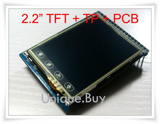 """free shipping+tracking NO 2.2"""" TFT LCD Module + Touch Panel Screen + PCB Adpater + SD Card Cage"""