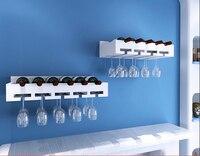 Solid wood wine rack hanging cabinet display glass wall decoration creative shelf rack