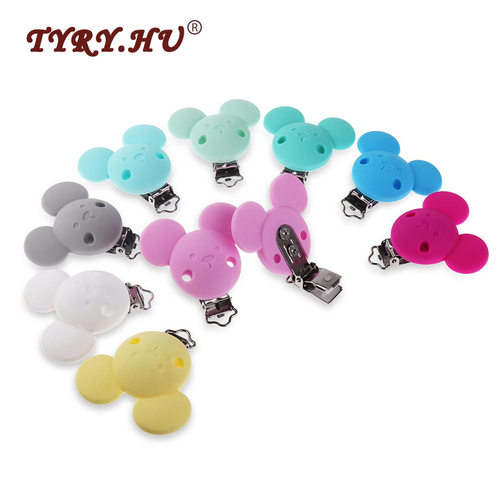 Nipple & Accessories Feeding Tyry.hu 10pc Cartoon Mouse Pacifier Clips Silicone Nipple Holder Bpa Free Baby Teething Toys&gift Teether Pendant Pacifier Chain Last Style