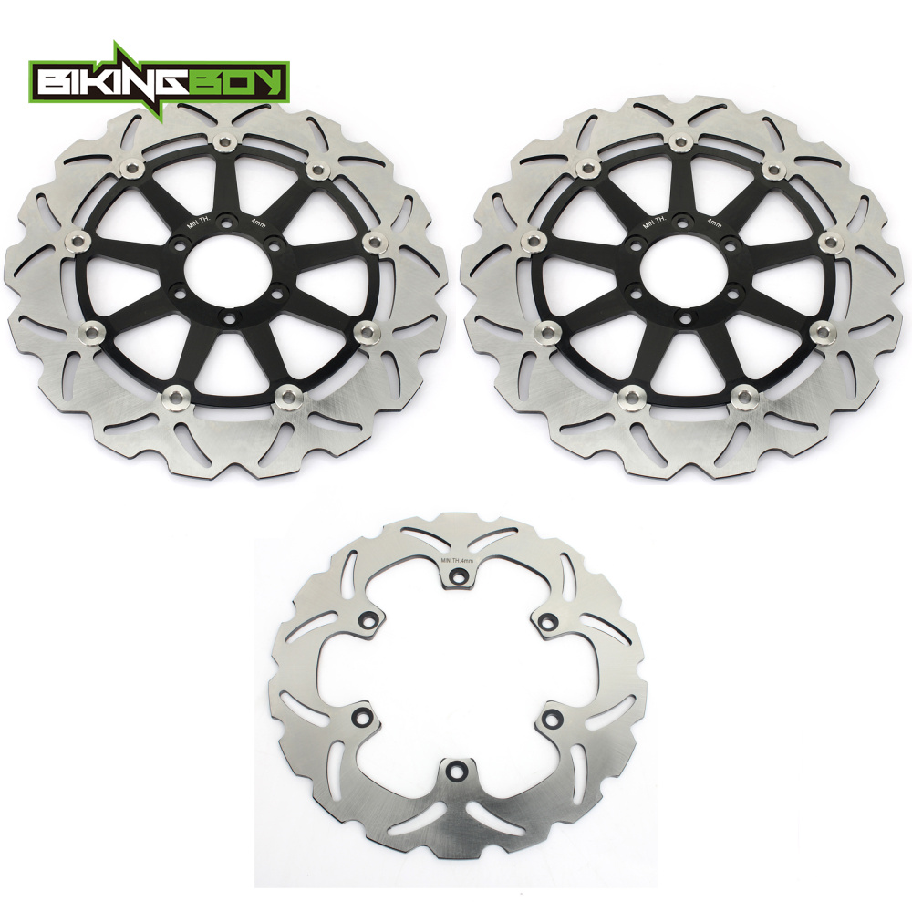 BIKINGBOY спереди и сзади тормозные диски Диски роторы для YAMAHA FZR 1000 EXUP EX UP XJR 1990 1995 1200 1995 1996 XJR 1300 1997 1998