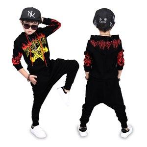 Image 4 - เด็กเครื่องแต่งกายเด็กHip Hop Hip Hopแสดงเสื้อผ้าชุดว่ายน้ำเด็กฤดูใบไม้ร่วงและฤดูหนาวเสื้อผ้าเต้นรำการแข่งขันเสื้อผ้า