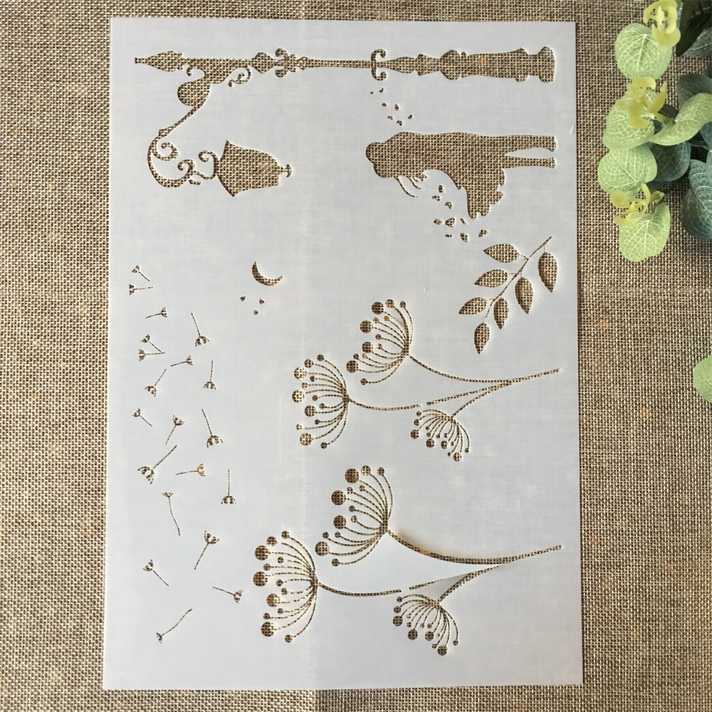 29*21cm Dandelion DIY Layering Stencils Wall Painting Scrapbook Coloring Embossing Album Decorative Paper Card Template