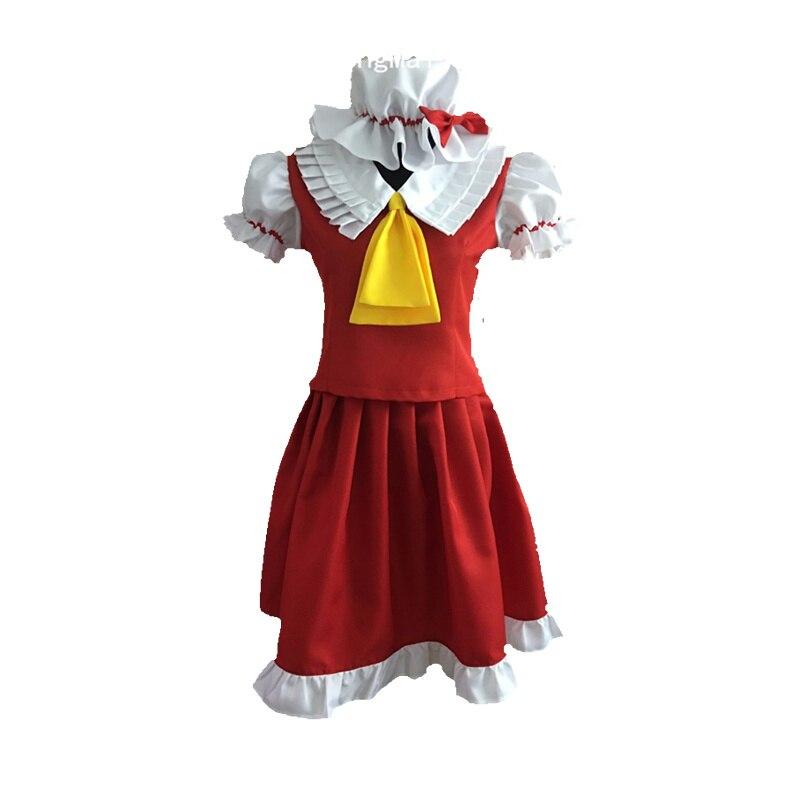 Anime Touhou Project flandre scarlet Cosplay Costume custom any size Halloween anime touhou project flandre scarlet cosplay costume custom any size halloween
