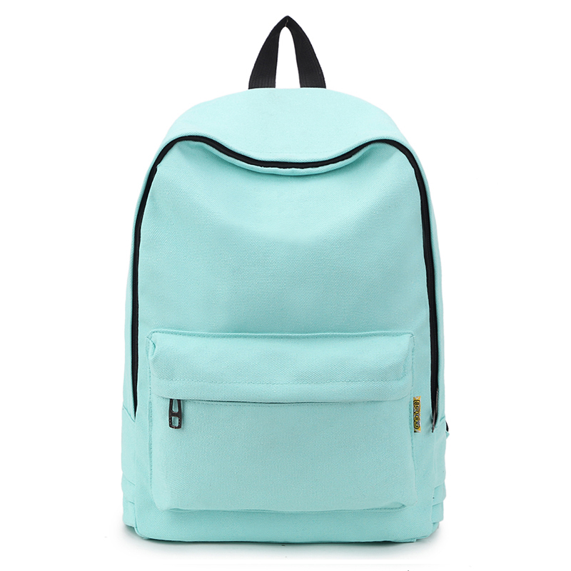 Fashion Women Backpack Solid Color Travel Bag Casual Shoulder Bag For Teenage Girl New School Bag Bagpack Rucksack Knapsack 2019