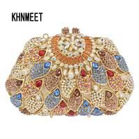 Groothandel Super Luxe Rode Kristallen Avond Clutch Bag Portemonnees Vrouwen Fashion Party Handtassen Schouder Ketting Gratis verzending SC286