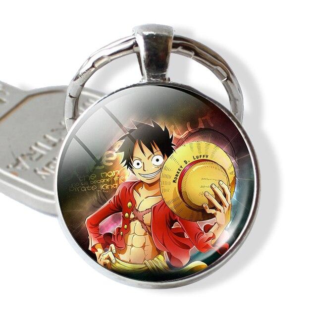 Anime One Piece Rufy Pirati Cappello di Paglia Keychain Portachiavi  Pendente Del Sacchetto Pendente Cosplay Gioielli 55a4b2581b81