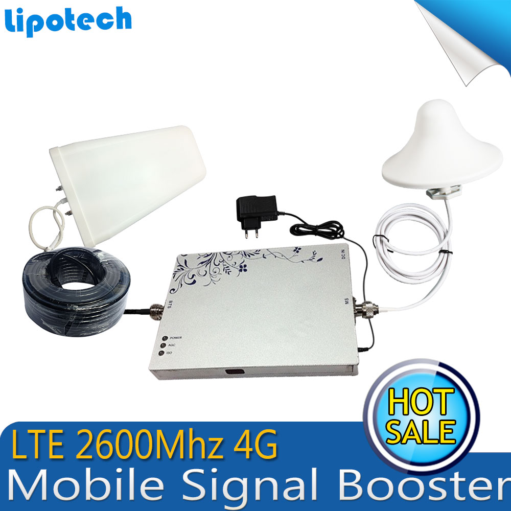 HOT Sale !Full Smart 2600MHz 4G LTE Cell Phone Signal Repeater 75db 25dBm 4G Mobile Phone Signal Boosters / Amplifier