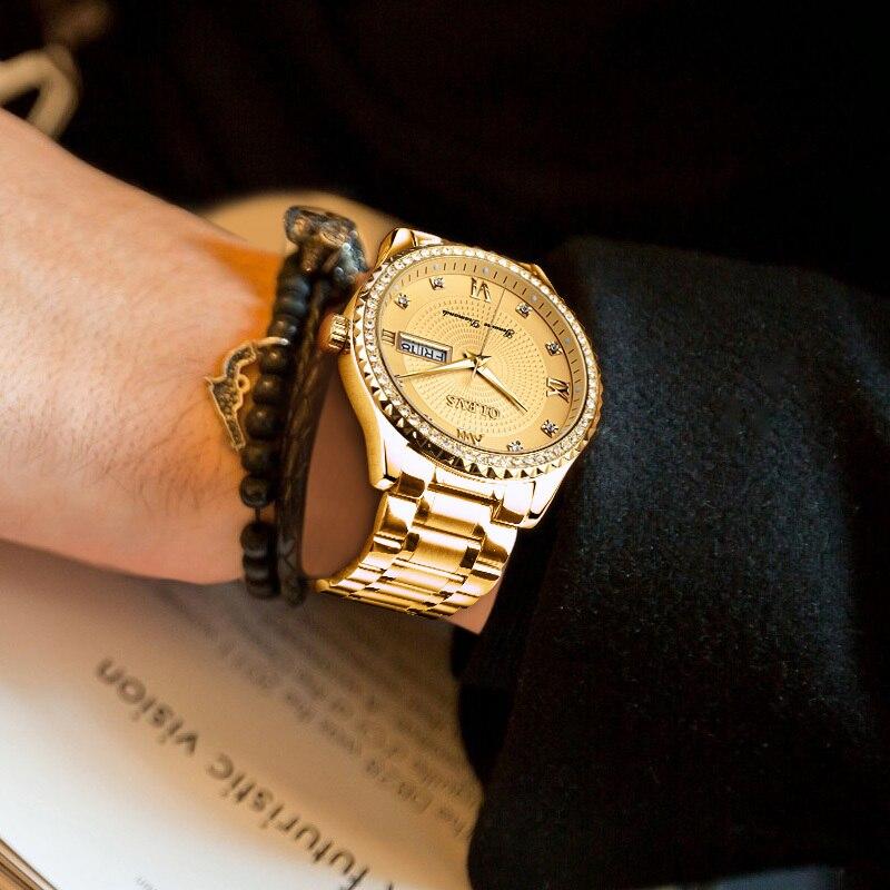 OLEVS Férfi karórák Top márka luxus teljes acél arany kvarc - Férfi órák - Fénykép 5
