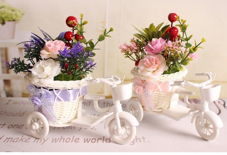 Simulatie bloemen plant fietsen decoratie woonkamer slaapkamer