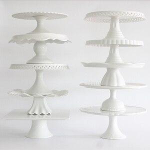 Керамическая подставка для торта, белая подставка для печенья на палочке, держатель для макарун, для украшения свадебного и десертного торт...