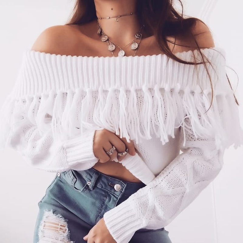 Off The Shoulder Sweater Women (1)